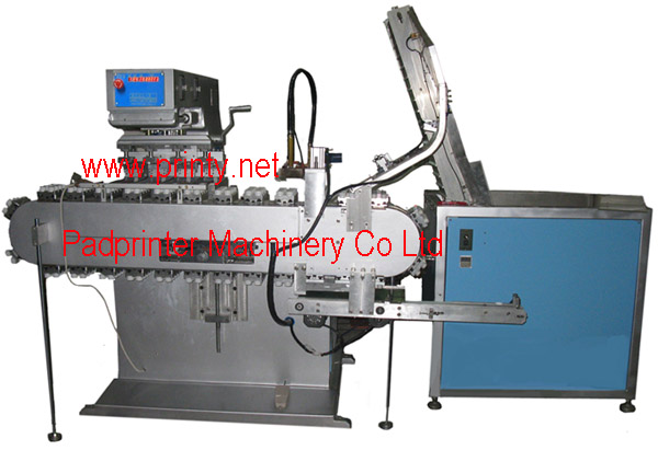 Vertical conveyor pad printer,Vertical conveyor pad printing machine,Fully automatic 4 color vertical conveyor bottle cap ink cup pad printing equipment