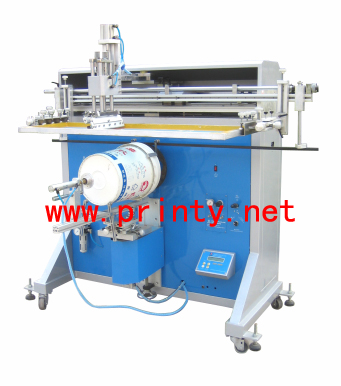 Barrel Screen Printer | Semi Automatic Container Screen Printer Machine | Pneumatic Flat Round Cylindrical Bucket screen printing machine