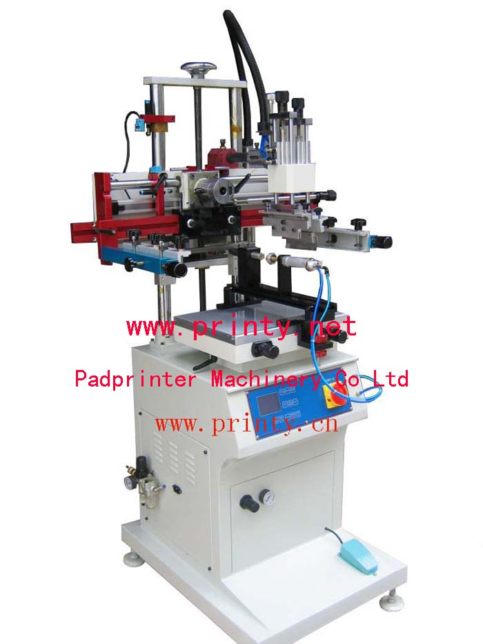 Flat Round Oval Screen Printer,Pneumatic Multi Function Silk Screen printing Machine,Semi Automatic Plane Cylindrical Oval Conic Screen Printing Equipment